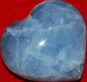 Blue Calcite Heart #1