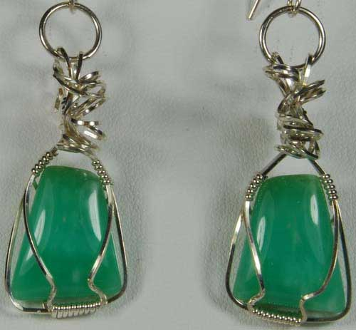 Chrysoprase Earrings #1