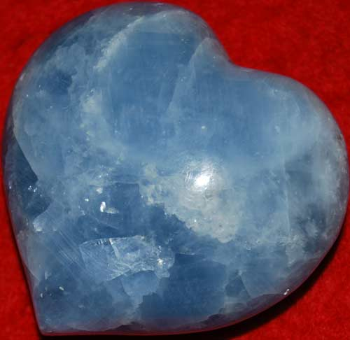 Blue Calcite Heart #7