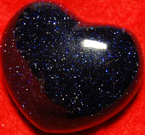 Blue Goldstone Heart #10