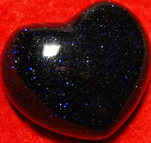 Blue Goldstone Heart #5