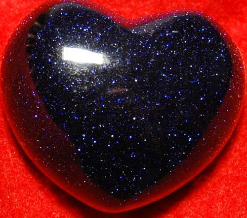 Blue Goldstone Heart #6