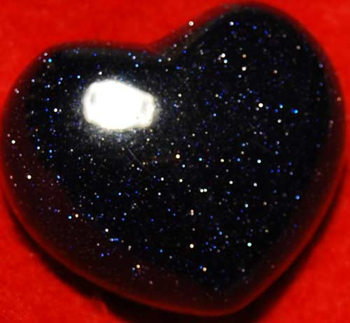 Blue Goldstone Heart #8