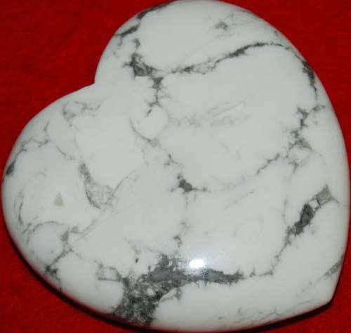 Howlite Heart #4