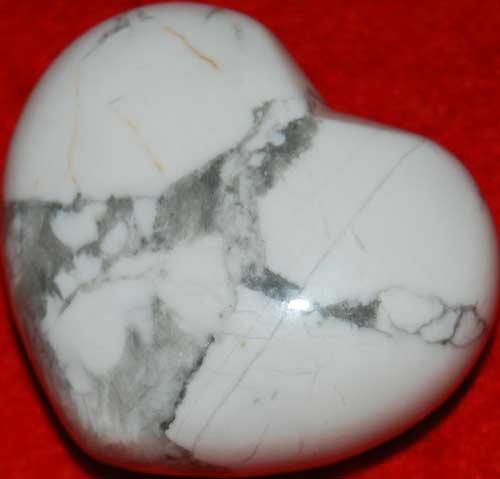 Howlite Heart #7
