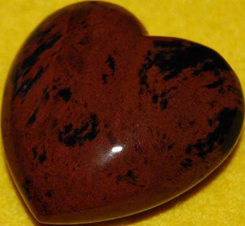 Mohagany Obsidian Heart #1