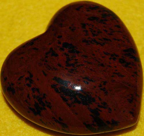 Mohagany Obsidian Heart #2