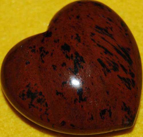 Mohagany Obsidian Heart #3