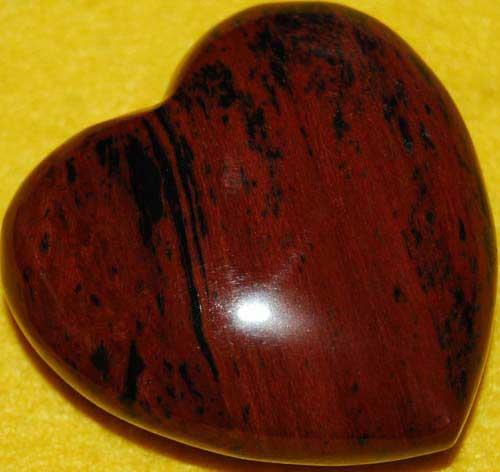 Mohagany Obsidian Heart #6