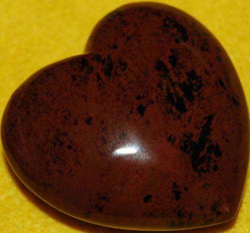 Mohagany Obsidian Heart #7