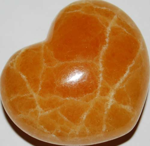 Orange Calcite Heart #2