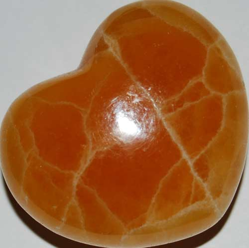 Orange Calcite Heart #3