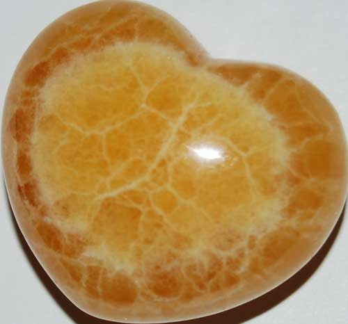 Orange Calcite Heart #4