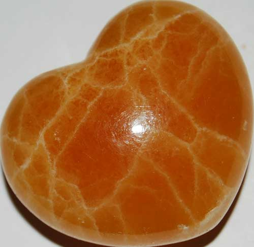 Orange Calcite Heart #5