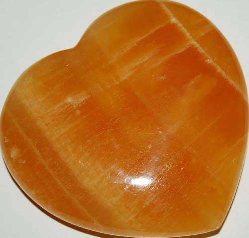 Orange Calcite Heart #6