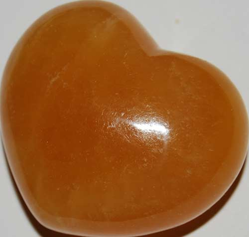 Orange Calcite Heart #8