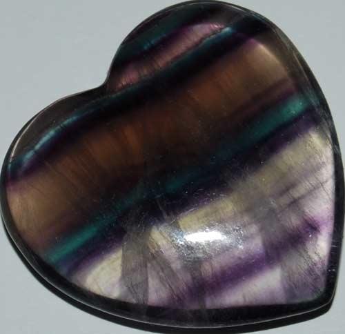 Rainbow Fluorite Heart #14
