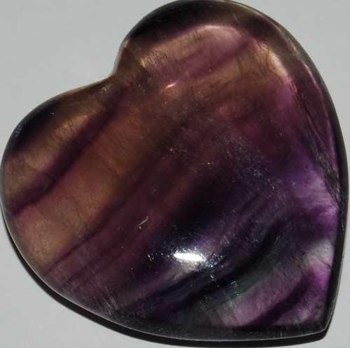 Rainbow Fluorite Heart #16