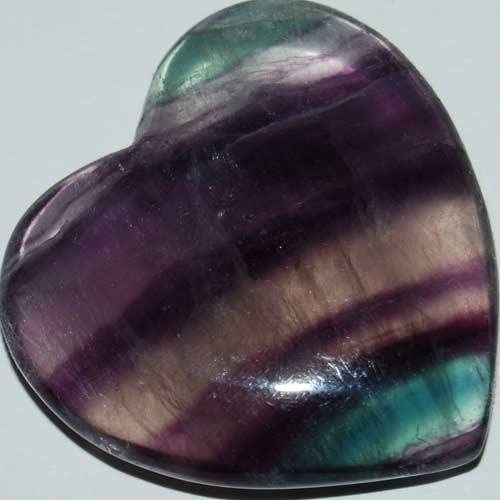 Rainbow Fluorite Heart #18