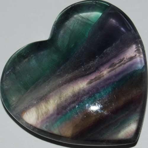 Rainbow Fluorite Heart #19
