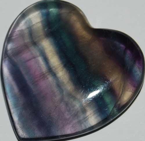 Rainbow Fluorite Heart #2