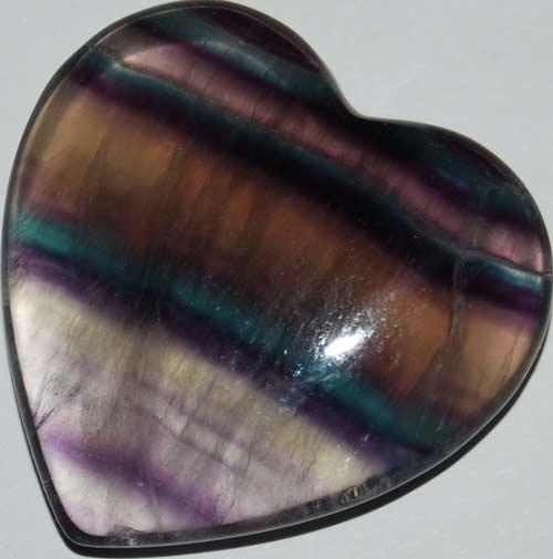 Rainbow Fluorite Heart #5