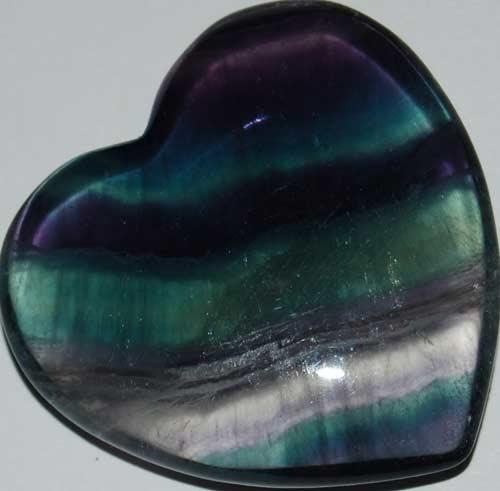 Rainbow Fluorite Heart #8