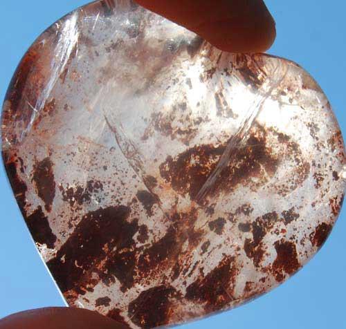 Red Hematoid Quartz Heart #1