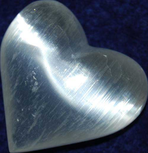 Selenite Heart #1