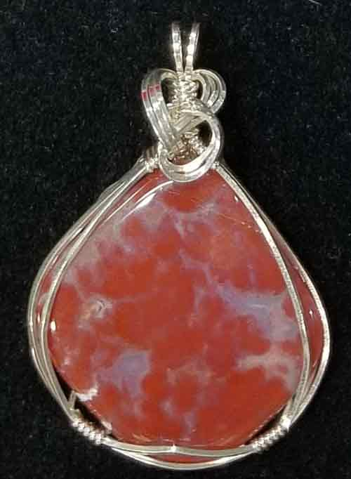 Red Moss Agate Pendant #1
