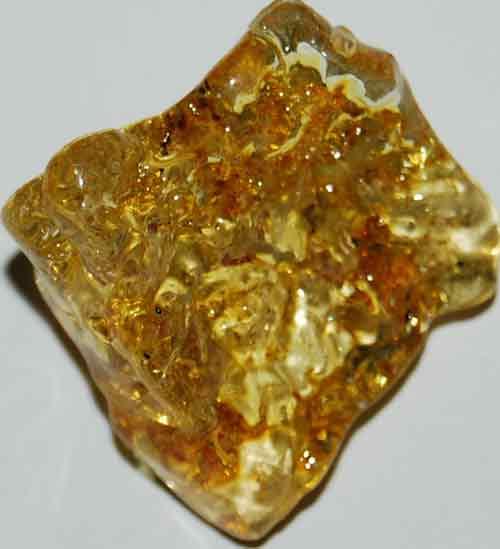 Amber Palm Stone #1