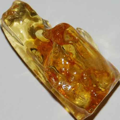 Amber Palm Stone #2