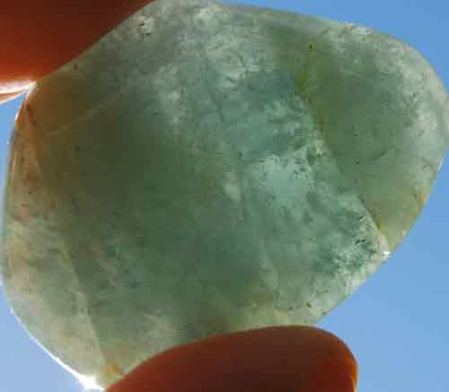Aquamarine Palm Stone #13