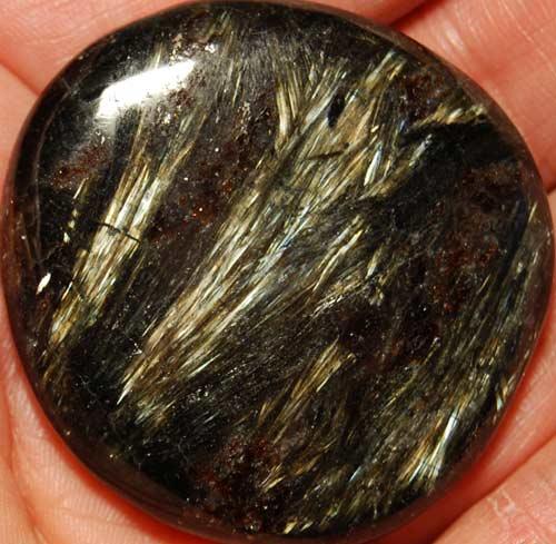 Arfvedsonite Palm Stone #8