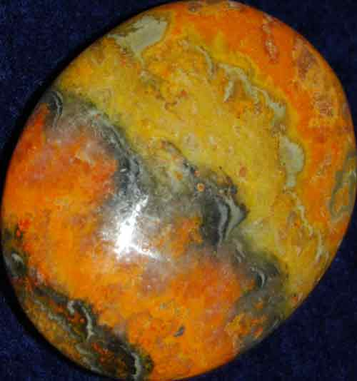 Bumble Bee Jasper Soap-Shaped Palm Stone #12