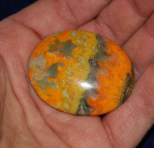 Bumble Bee Jasper Soap-Shaped Palm Stone #12