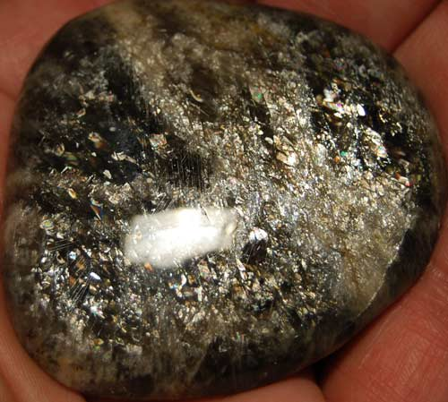Black Moonstone Palm Stone #22