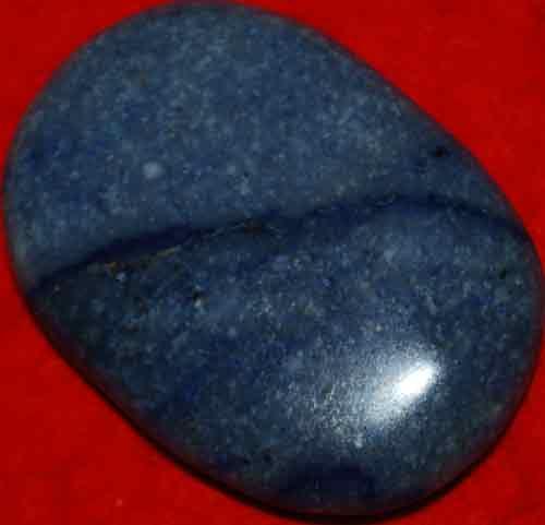 Blue Quartz Soap-Shaped Palm Stone #8