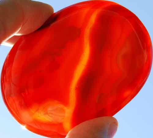 Carnelian Soap-Shaped Palm Stone #40