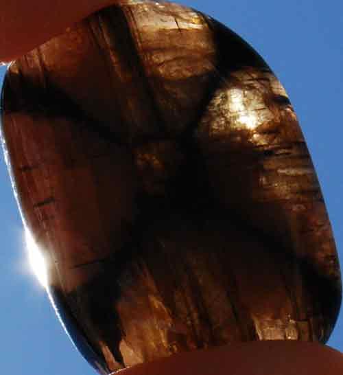 Chiastolite Palm Stone #9