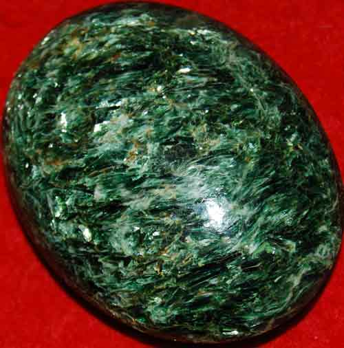 Fuchsite with Green Mica Soap-Shaped Palm Stone #14