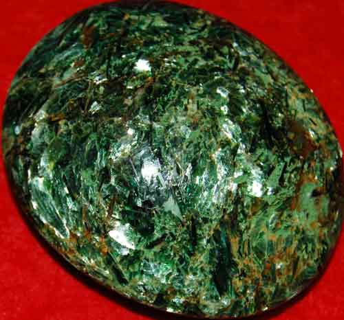 Fuchsite with Green Mica Soap-Shaped Palm Stone #1