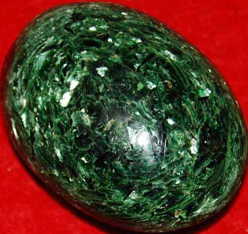Fuchsite with Green Mica Soap-Shaped Palm Stone #3