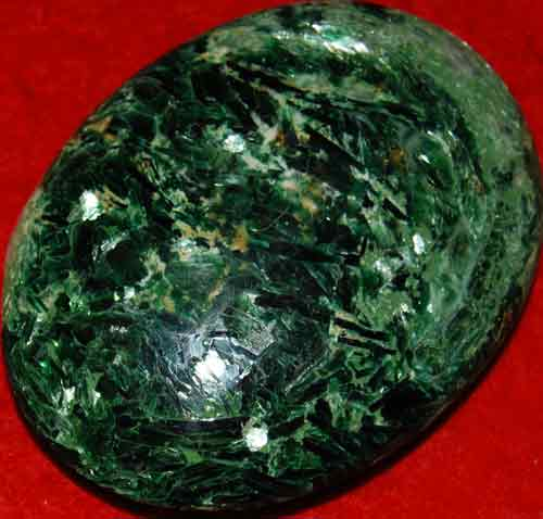 Fuchsite with Green Mica Soap-Shaped Palm Stone #5