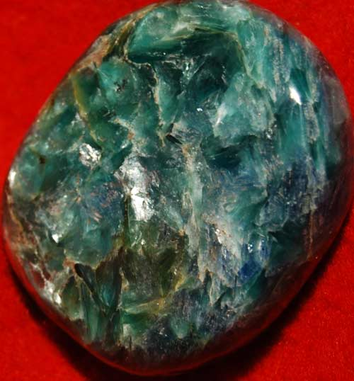 Green and  Blue Kyanite with Mica Palm Stone #10