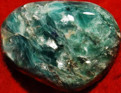 Green and  Blue Kyanite with Mica Palm Stone #3