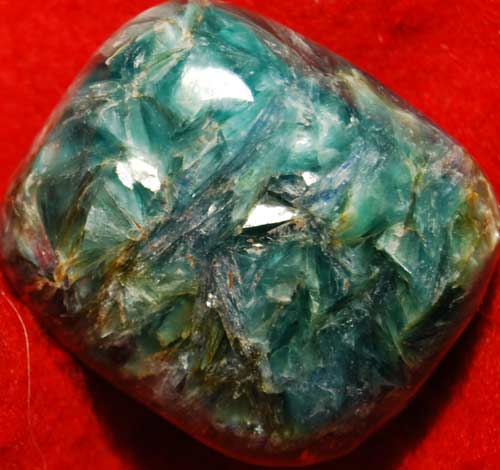 Green and  Blue Kyanite with Mica Palm Stone #8