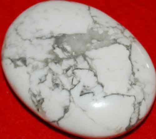 Howlite Soap-Shaped Palm Stone #15