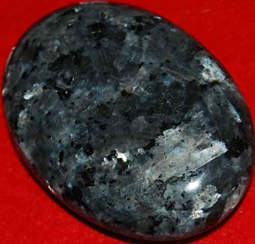 Larvikite Soap-Shaped Palm Stone #3