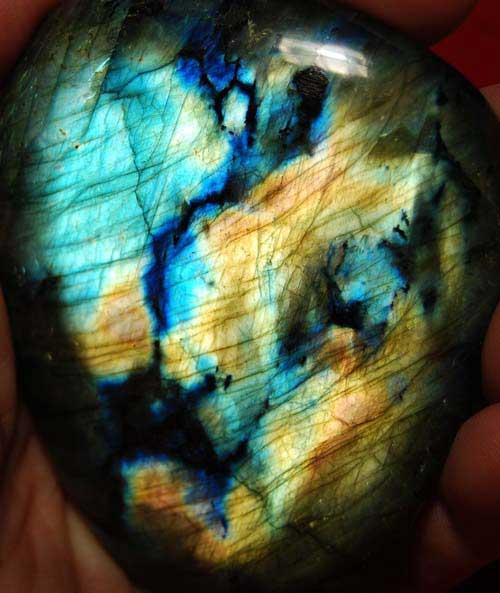 Large Labradorite Palm Stone #25